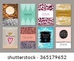 cards design in vintage  retro...   Shutterstock .eps vector #365179652