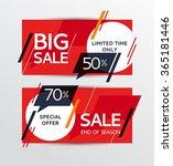 sale banners design. vector... | Shutterstock .eps vector #365181446
