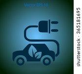 flat eco car icon. vector | Shutterstock .eps vector #365181695