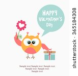 valenyine's day card | Shutterstock .eps vector #365184308