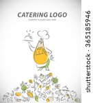template of catering company... | Shutterstock . vector #365185946