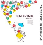 template of catering company... | Shutterstock . vector #365186762