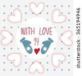 happy valentines day cards with ... | Shutterstock .eps vector #365194946