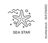 line art sea star  starfish ... | Shutterstock .eps vector #365196002
