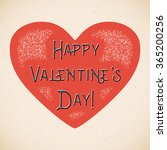 retro valentines day card with... | Shutterstock .eps vector #365200256