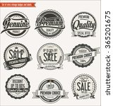 quality retro vintage badges... | Shutterstock .eps vector #365201675