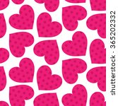 abstract hearts seamless...   Shutterstock .eps vector #365202332