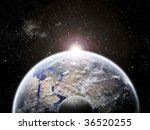 universe and planet exploration ... | Shutterstock . vector #36520255
