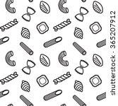 pasta seamless pattern. vector... | Shutterstock .eps vector #365207912