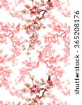 spring branch pattern 2 | Shutterstock . vector #365208176