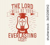 bible lettering. christian art. ... | Shutterstock .eps vector #365208542
