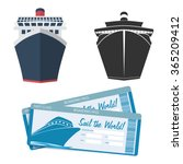 cruise ship icon and tickets | Shutterstock .eps vector #365209412