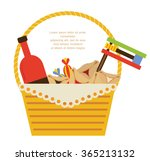 purim holiday gifts  with... | Shutterstock .eps vector #365213132