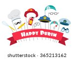design for jewish holiday purim ... | Shutterstock .eps vector #365213162