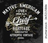 native american illustration ... | Shutterstock .eps vector #365215886