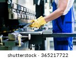 asian worker in factory at... | Shutterstock . vector #365217722