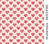 seamless hearts pattern retro... | Shutterstock .eps vector #365219582
