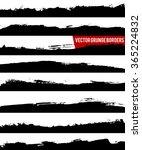 set of grunge borders. grunge... | Shutterstock .eps vector #365224832