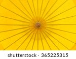 Top View Yellow Parasol...