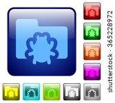set of bug folder color glass...