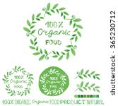 organic food bio ecology...   Shutterstock . vector #365230712