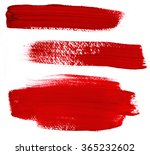a set of abstract red paint... | Shutterstock . vector #365232602