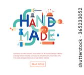 handmade. typographic poster.... | Shutterstock .eps vector #365233052