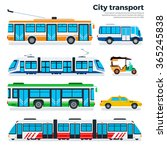 city transport vector flat... | Shutterstock .eps vector #365245838