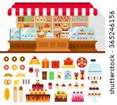 bakery vector flat... | Shutterstock .eps vector #365246156