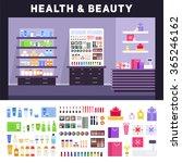 beauty store vector flat... | Shutterstock .eps vector #365246162