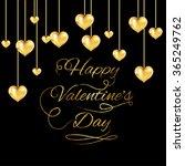 happy valentine's day vector... | Shutterstock .eps vector #365249762