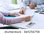 young woman having a business... | Shutterstock . vector #365256758