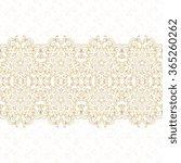 vector ornate seamless border....   Shutterstock .eps vector #365260262