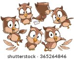 very adorable set of cartoon... | Shutterstock .eps vector #365264846