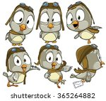 very adorable set of cartoon... | Shutterstock .eps vector #365264882