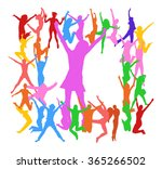 people isolated over white... | Shutterstock .eps vector #365266502