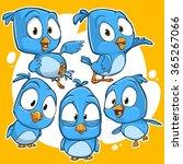 very adorable blue twitter... | Shutterstock .eps vector #365267066