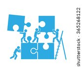 puzzle and people icon vector... | Shutterstock .eps vector #365268122