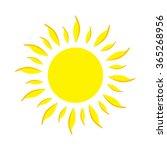 flat icon sun. vector... | Shutterstock .eps vector #365268956