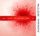 valentine's background with red ... | Shutterstock .eps vector #365271746