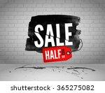 vector half price sale... | Shutterstock .eps vector #365275082