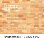 vector grunge old brick wall... | Shutterstock .eps vector #365275142