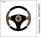 steering wheel with red signal...   Shutterstock .eps vector #365276072