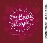 vintage valentines day... | Shutterstock .eps vector #365276486