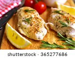 chicken breast baked with... | Shutterstock . vector #365277686