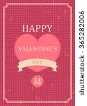 vintage valentines day party... | Shutterstock .eps vector #365282006