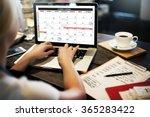 calender planner organization... | Shutterstock . vector #365283422