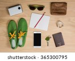 overhead shot of woman stuff on ... | Shutterstock . vector #365300795