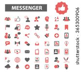 messenger connect ... | Shutterstock .eps vector #365300906