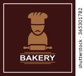 bakery emblem on a square... | Shutterstock .eps vector #365301782